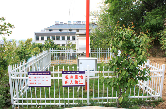 自动气象站——位于东边操场边的男生宿舍楼前